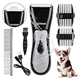 seanme Dog Clippers Washable, New Upgrade Waterproof Pet Grooming Kit with...