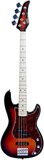 $112 » 4-String Electric Bass, Bass Wood Body Maple Neck Maple Fingerboard Alnico Pick up Electric Bass Guitar with Strap Guitar ...
