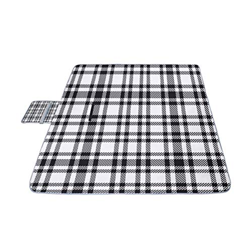 Sale!! GIRLOS Blue Checkered Tablecloth Picnic Mat 57''(144cm) x59''(150cm) Picnic Blanket B...