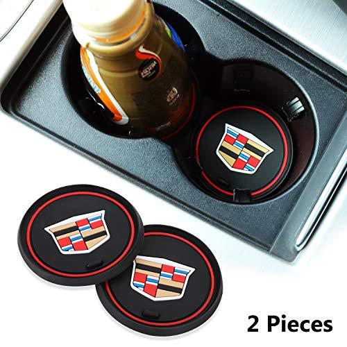 OSIRCAT 2 Pcs 2.75 inch Car Interior Accessories Anti Slip Cup Holder Coasters for Cadillac Escalade,CTS,SRX, BLS, ATS,STS, XTS, SXT,etc All Models