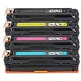Pure-color Reemplazo para HP 125A CB540A CB541A CB542A CB543A Cartucho de tóner Compatible para HP Colour Laserjet CM1312 CM1312n CM1312nfi CP1215 CP1217 CP1510 CP1514n CP15n CP1518ni Impresora