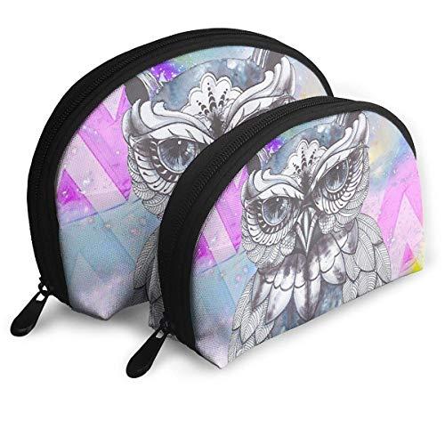 XCNGG Aufbewahrungstasche Cool Owl Artistic Illustration Tragbare Reise Make-up Handtasche Wasserdichte Toilettenartikel Organizer Aufbewahrungstaschen