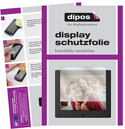 dipos I 6X Schutzfolie klar kompatibel mit NIX Advance 8 Zoll Digitaler Bilderrahmen Folie Displayschutzfolie