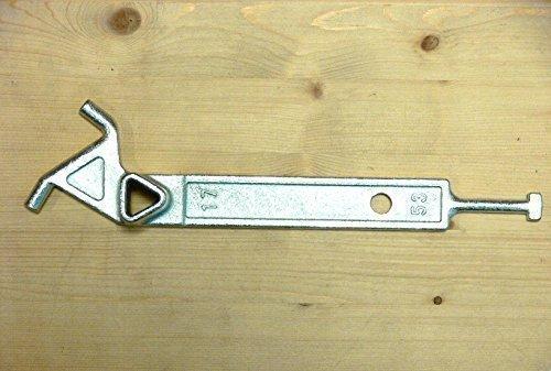 Pfostenschlüssel Dreikant 16/17mm, Dornschlüssel, Dreikantschlüssel