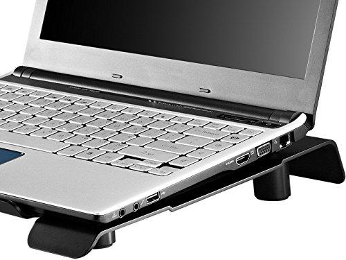 Cooler Master NotePal CMC3 Notebook-Kühler 'Leiser 200mm Lüfter, 700UPM, Kompatibel mit bis zu 15.6 Zoll Laptops' R9-NBC-CMC3-GP