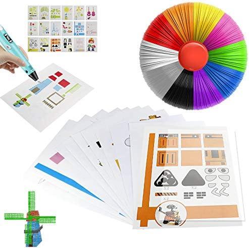 ZTTXL 3D Pen Mat 20 Sheets Printer Drawing Molds Paper Stencils for 3D Printing Pen 40 Patterns product image