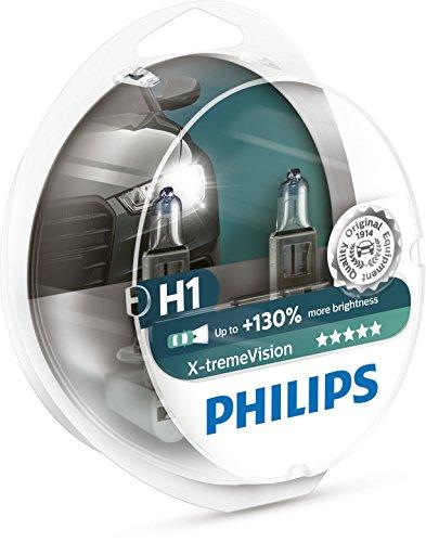 Philips X-tremeVision +130% H1 Scheinwerferlampe 12258XV+S2, 2er-Set