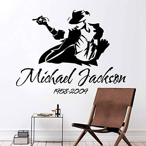 3D Michael Jackson etiqueta de la pared vinilo impermeable etiqueta para sala de estar etiqueta vinilo etiqueta mural