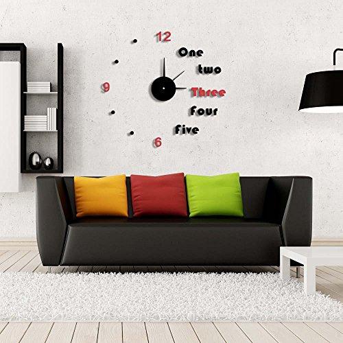 BBSLT-Orologi silenziosi adesivi da parete, orologio da parete arredamento casa, salone minimalista wall sticker orologio, regali, idee, camera da letto, soggiorno orologio da parete