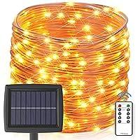 Asmader 60 ft 200 LEDs IP67 Waterproof Outdoor Solar String Lights