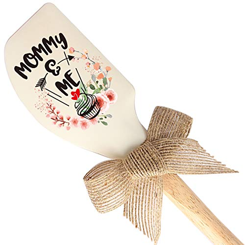 THREE HUMAN Mommy And Me Funny Silicone Spatula, Funny Baking Tool, Modern Farmhouse Kitchen Decor, Gift for Chef, Nana, Sister, Mom, Pastry Chef, Wife