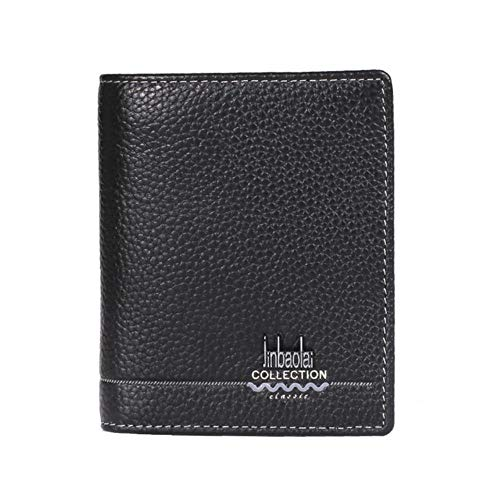 Erfhj herenportemonnee van leer in zakelijke stijl met dubbele creditcard