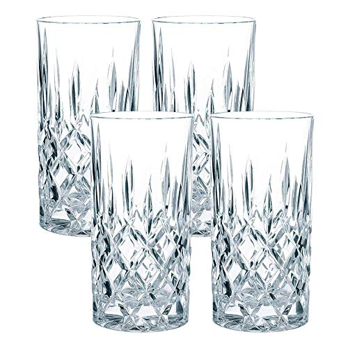Nachtmann-The Life Style Divison of Riedel Glass Works Noblesse, Trago largo, Transparente, Paquete de 4,…