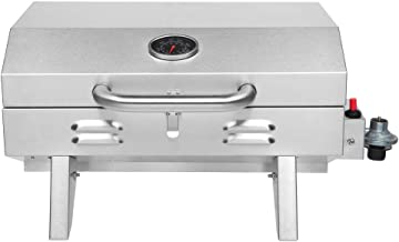 ROVSUN Portable Propane Gas Grill 12,000BTU, Tabletop Outdoor Cooking Grill for Picnic Camping Tailgating Patio Garden BBQ...