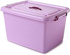 Laundry Basket Large Food Storage Containers - Multi-Colour, (Color : Purple, Size : 60L)