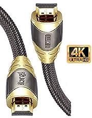 IBRA 4K Ultra hög hastighet 18 Gbps HDMI-kabel, 2 meter längd, guld
