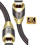 4K HDMI Kabel 1M HDMI 2.0b Kabel 4K@60Hz HighSpeed 18Gbps Nylon Geflecht Vergoldete Anschlüsse mit Ethernet/Audio Rückkanal,Kompatibel mit Video 4K UHD 2160p,HD 1080p,3D Xbox PS4-IBRA Luxury