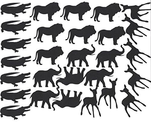 Crocodile éléphant lion cerfs Stickers en vinyle (Noir) CODE 2