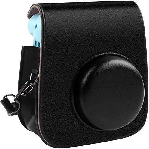Schutzhülle und tragbare Tasche Kompatibel mit Fujifilm Instax Mini 11 Sofortbildkamera mit Zubehörtasche und verstellbarem Gurt. (schwarz)