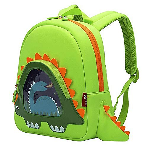 OFUN Dinosaur Backpack Preschool, 12'' Toddler Backpack for Boys, Little Girls Backpack Dinosaur Toys Bag, Waterproof