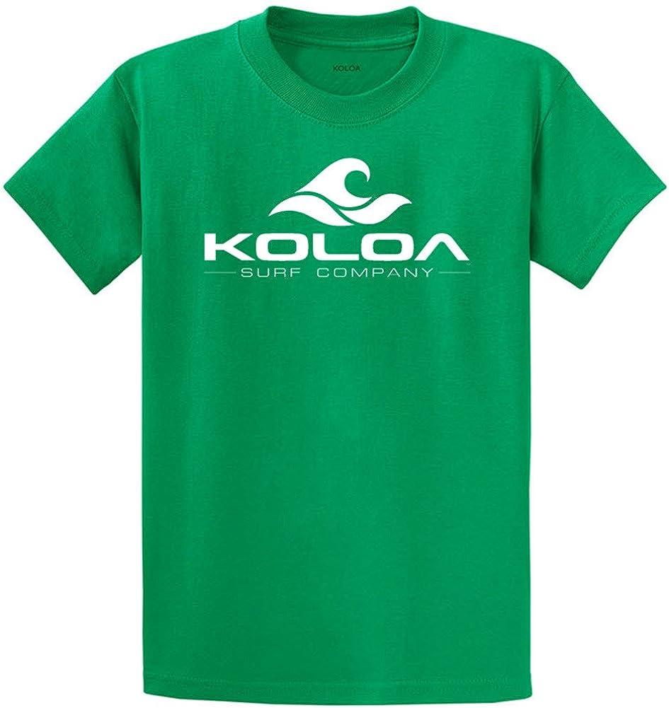 Koloa Surf Co. Wave Logo Cotton T-Shirts 2X-Large Tall -2XLT,Kelly/w