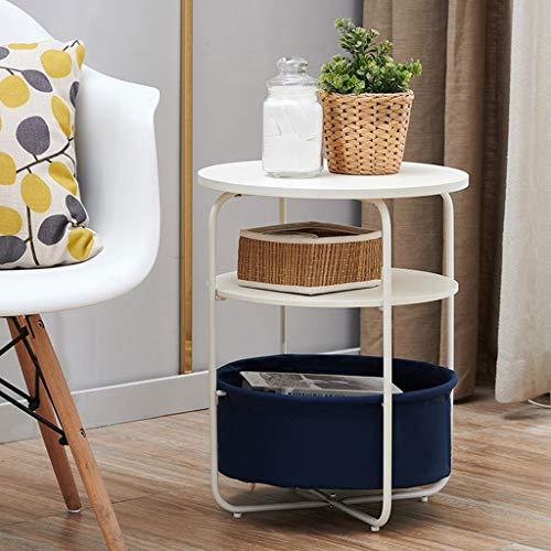 NYDZDM sängbord sängbord tre nivåer skåp litet soffbord mini vardagsrum hörnbord soffa sidoskåp side Bed Round Table (färg: B)
