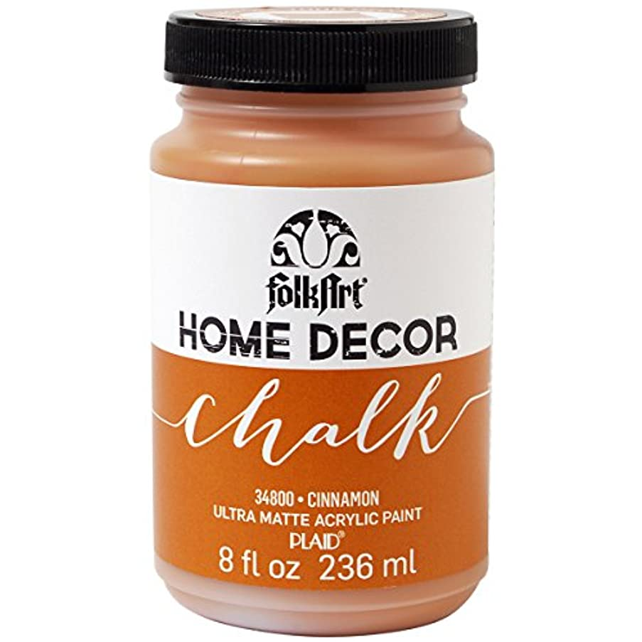 FolkArt Home Decor Chalk Furniture & Craft Paint in Assorted Colors (8 Ounce), 34800 Cinnamon