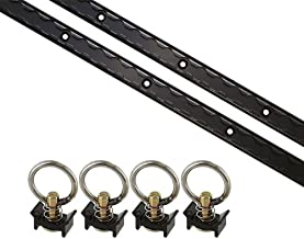 US Cargo Control 6 Piece Powersports Black 4 Foot L Track Tie Down System