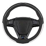 ZHANGBINGB Couvre-Volant Durabilité Sécurité/Universel Automobile Eco Rubber Colonne de Direction Automatique (Noir Rouge), Argent