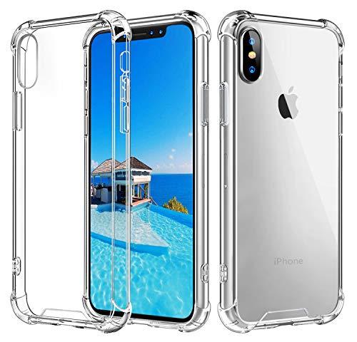 Babacom Cover per iPhone XS Max, [Cristallo Trasparente] Custodia Shock-Absorption Corner Cushion Bumper con Pannello Posteriore in Hard PC + Cornice in TPU Rinforzato per iPhone 6,5''