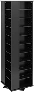 Prepac Large Four-Sided Spinning Tower Storage Cabinet, Black