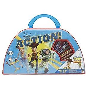 Disney Toy Story 4 Estuche De Arte Infantil Pixar   Maletín De Colores para Niños   Material Escolar Bonito con Woody, Buzz Lightyear, Forky Y Bo Peep   Accesorios para El Colegio para Niñas