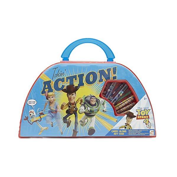 Disney Toy Story 4 Estuche De Arte Infantil Pixar | Maletín De Colores para Niños | Material Escolar Bonito con Woody, Buzz Lightyear, Forky Y Bo Peep | Accesorios para El Colegio para Niñas