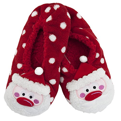 adam & eesa Assorted Womens Co-zees Slipper Socks Christmas Winter Sherpa Fleece Lined Ballerina Slippers in 13 Designs UK 4-7