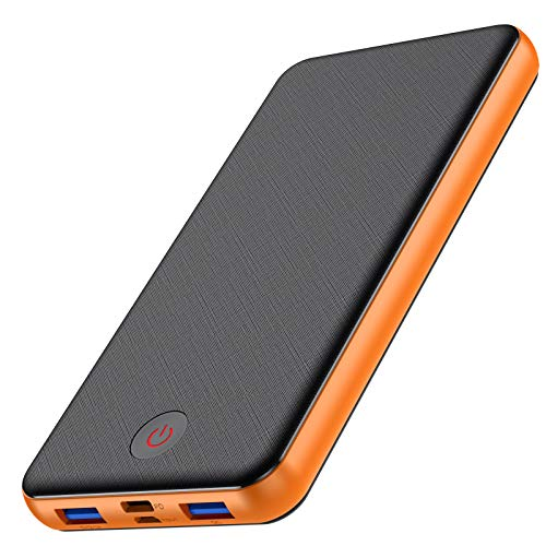VOOE 18W Batería Externa 26800mAh [PD & QC 3.0 Carga Rápida] Power Bank con 3 Salidas USB y 2 Entradas [Doble Tipo C Puerto] Cargador Portátil Móvil para Smartphones Tabletas y Más