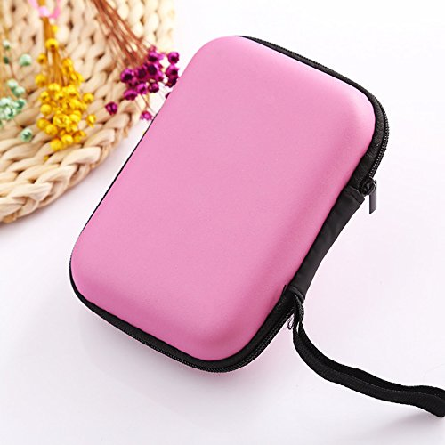 N / A Einfache Winddatenkabel Aufbewahrungsbox Komprimierung Kopfhörer Festplatte Mobile Power Aufbewahrungsbox mit Reißverschluss 13,5 x 10 cm