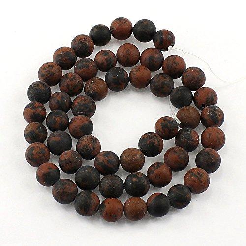 Pietre preziose da 8 mm e 6 mm, opache, grado A, sfera semipreziosa, pietre preziose, pietre preziose, pietre preziose, pietre preziose (diaspro rosso, 8 mm)