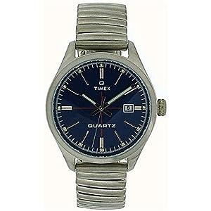 Reloj para hombre con esfera azul de la fecha se muestra en el Calendario