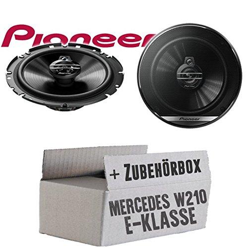 Lasse W210 Front - Lautsprecher Boxen Pioneer TS-G1730F - 16,5cm 3-Wege Koax Paar PKW 300WATT Koaxiallautsprecher Auto Einbausatz - Einbauset für Mercedes E-Klasse JUST SOUND best choice for caraudio