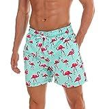 anqier Badeshorts für Männer Badehose für Herren Jungen Schnelltrocknend Schwimmhose Strand Shorts,Rosa,2XL EU-(MarkeGröße:XL)