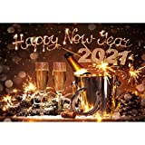 Laeacco 10x6.5 Vinyl Backdrop 2020 Happy New Year Photography Background Festival Celebration Holiday