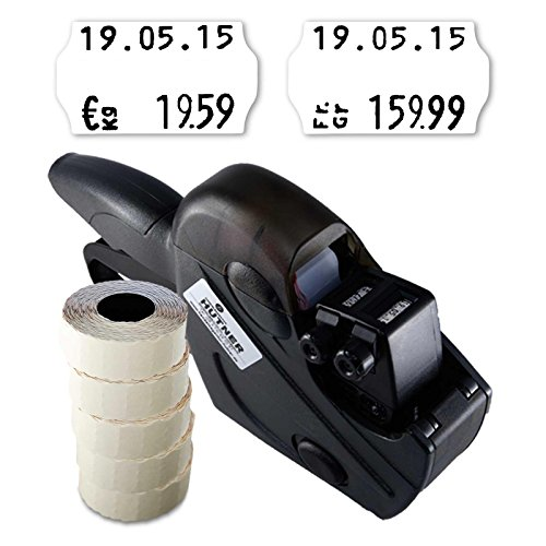 Preisauszeichner Set: Etikettiergerät Uno S16 für 26x16 inkl. 6.000 HUTNER Preisetiketten weiss permanent | etikettieren | HUTNER