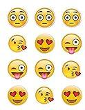 Kopykake Twelve Emoji Edible Cupcake Frosting Cake Toppers