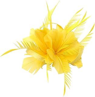 Vert Citron Mousseline Fleur et Plume Sur Bandeau Femmes Filles UK