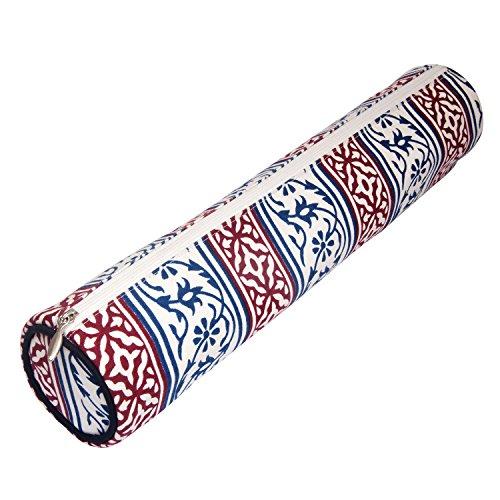 KnitPro Aufbewahrungslösungen für Nadeln, handgeblockt, aus Stoff, 35/40 cm, Marineblau, Baumwolle, Mehrfarbig, 38 x 8.5 x 8.5 cm