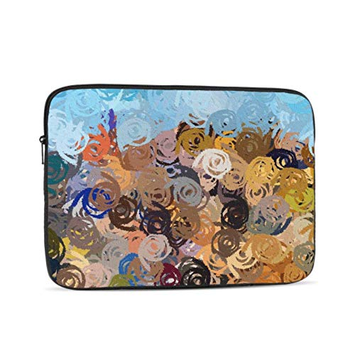 Murals Color Colors Polychrome Stain Stains Slick Pattern 13-13.3 Inch Laptop Sleeve Bag, Waterproof Shock Resistant Neoprene Notebook Protective Bag Carrying Case Compatible MacBook Pro/MacBook Air