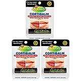 Dr. Dan's Cortibalm for Dry Cracked Lips - Healing Lip Balm for Severely Chapped Lips - Designed for Men, Women and Children - 3 Pack