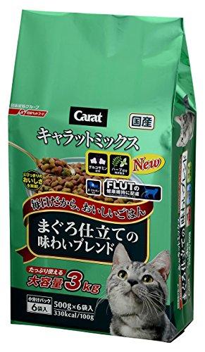 キャラットミックス まぐろ仕立ての味わいブレンド 国産 3kg (500g ×6袋入)