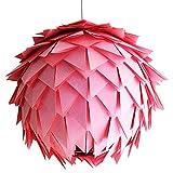 Rosa Harlekin, Ø 35cm, rosa Papierlampe Hängelampe Lampe Lampenschirm Pendellampe Designerlampe...