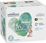 Diapers Size 2, 186 Count - Pampers Pure Protection Disposable Baby Diapers, Hypoallergenic and Unscented Protection, ONE MONTH SUPPLY